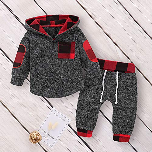 5a93a793f Pant Sets – Infant Toddler Baby Girl Boy Fall Winter Clothes Outfit ...