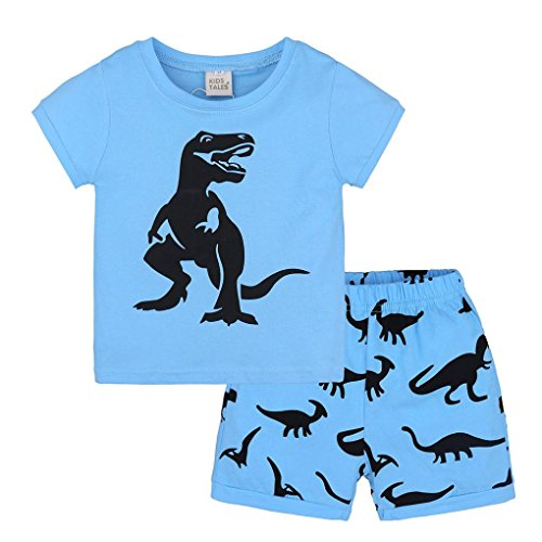 Cute Toddler Baby Boys Clothes Short Sleeve Top T-Shirt Shorts 2PCS Outfits Set