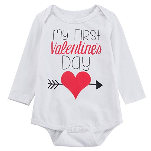4bdd60e6b9621 Pant Sets – Baby Boys Girls My First Valentine's Day Romper Infant ...