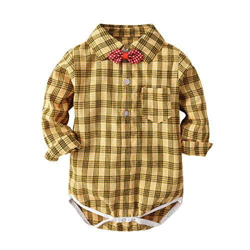 Toddler Baby Boy Gentleman Romper Short Sleeve Bow Tie Bodysuit Shirt Tops+Pants