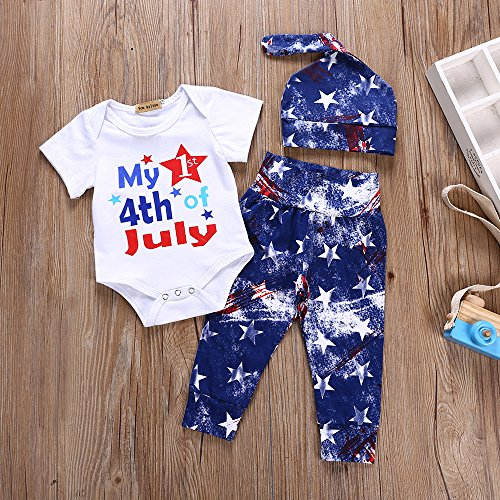 My First 4th of July Independence Day Costume Outfits Clothes for Baby Boy Girl