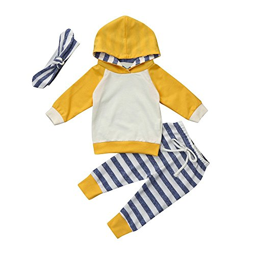 e0f0fb5e0 Pant Sets – Happy Town Baby Boys Girls Clothes Long Sleeve Hoodie Tops  Sweatsuit Long Pants Outfit Set (Yellow, 18-24 Months)
