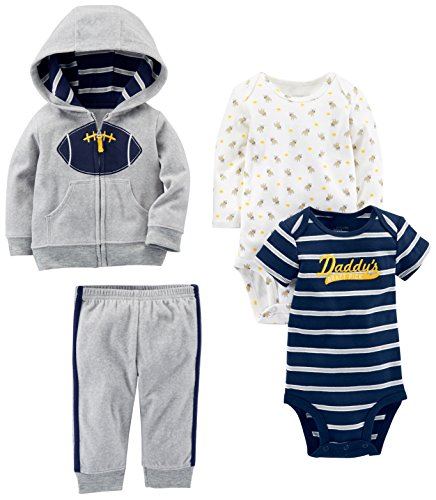 Carter/'s Simple Joys Baby Girls 4-Piece Fleece Jacket Pant /& 2 Bodysuits Set Nwt