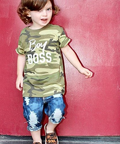 0b137428 Short Sets – Toddler Baby Boy Clothes Short Sleeve Camo T-Shirt +Denim  Cropped Pants Shorts Outfits Set (2-3 Years) Offers