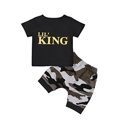 Camouflage Pants Outfits Dinlong Newborn Baby Boys Clothes Set Letter Tops T Shirt