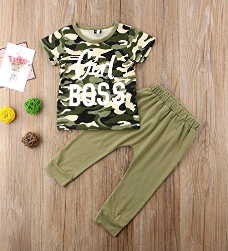 dcfdd6e47b80e Pant Sets – Stylish Toddler Kids Boy Girl Boss Tops Camouflage T-Shirt Pants  Outfits Set Clothes (4-5 Years, Girl Boss)