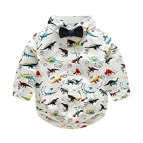 a99626a7b Pant Sets – Tem Doger Gentleman Baby Boys Dinosaur Bowtie Romper Shirt Tops  + Suspender Pants with Straps Clothing Set Outfit (90/12-18 Months)
