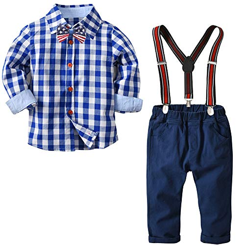 ccc7a1095 Pant Sets – Yilaku Long Sleeve Shirt Gentleman Suspender Pants Clothing Set  Overalls Romper Jumpsuit Clothes Toddler Outfit(Gentleman Blue 3-4T) Offers